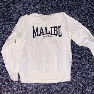 Women's white Malibu sweatshirt